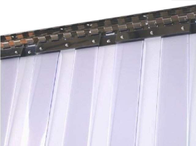Riel para cortina de pvc refrigeracion c maras for Ganchos para cortinas de riel